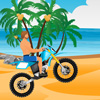 Jocuri cu motociclistul pe plaja