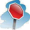 Stop Sign în unghi Jigsaw